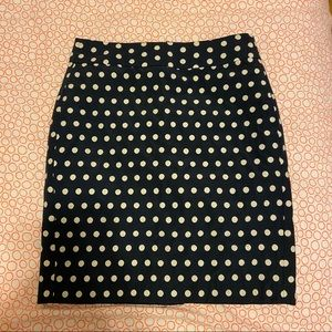 Banana Republic Polka Dot Navy Skirt